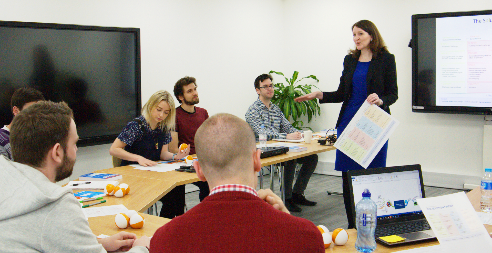 Liz presenting the Tony Buzan Licensed Instructor course in Mind Mapping